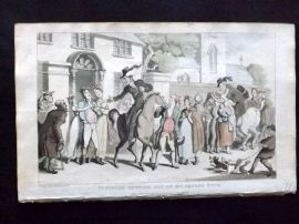 Rowlandson Doctor Syntax 1820 HC Print. Dr. Syntax Setting out on his Second Tour